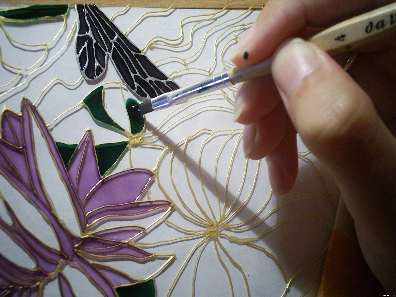 Мастер класс по витражной росписи